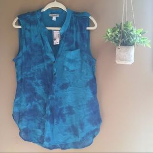 DRESS BARN Women's Blue Sleeveless Blouse NWT